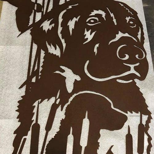 Custom Dog Frame Powder Coated